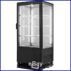 Commercial Beverage Refrigerator 78L Countertop Display Cooler Drink Show Case