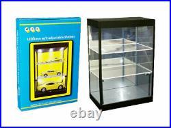 DISPLAY SHOWCASE DESK TOP 2-TIER WithADJUSTABLE SHELVES & LED LIGHTS 9927 MBK