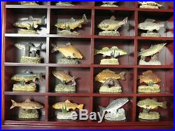 Danbury Mint Anglers Showcase Collection With Display Stand