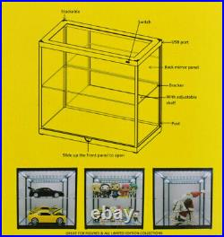 Display Show Case 2 Tier Mirror Back & Lights Ideal 118 Scale Model Displays