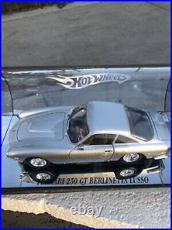 FERRARI 250 GTO Lusso HOT WHEELS In SHOWCASE 118 IN TUBE DISPLAY Rare