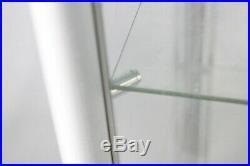 FixtureDisplays Aluminum Glass Display Showcase, Swing Door with Locks 102729