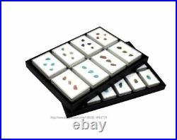 Gem Box Diamond Display Tray Pendant Holder Jewelry Showcase Stone Organizer