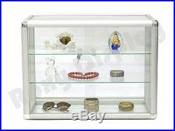 Glass Countertop Display Case Store Fixture Showcase with front lock #SC-KDTOP