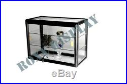 Glass Countertop Display Case Store Fixture Showcase with front lock SC-KDTOP-BK