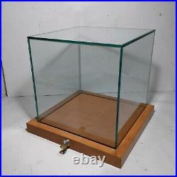 Glass Cube Locking Counter Display Vitrine Case Showcase Museum Jewelry Retail