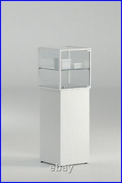 Glass Lockable Retail/Jewellery/Museum Display Counter Showcase 45 cm square