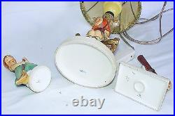 Goebel Hummel Original LAMP & CHARACTER FIGURES Porcelain Showcase Display Set