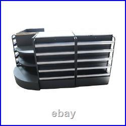 Gray Cashier Desk-Show Case Combo Unit-Checkout Counter-Display Case