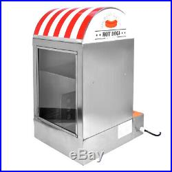 Hot Dog Steamer Electric Cart Cooker Warmer Machine Commercial Display Showcase