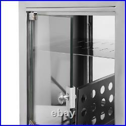 Hot Dog Steamer Machine Commercial Electric Bun Warmer Display Showcase 1500W
