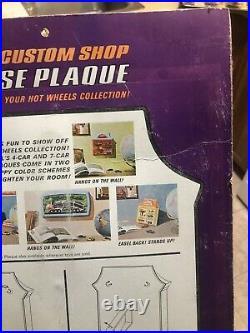 Hot Wheels Redline Era Custom Shop Showcase Display Plaque 1968 NEW IN PACKAGE