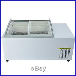 Kolice tabletop design 6 drums ice cream Showcase freezer/ice cream displayer