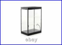 LED Showcase With Two Adjustable Shelves Display Case H43 x W30 x D20cm