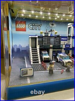 LEGO Store Display Showcase CITY # 7498 Police Station Set