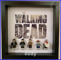 LEGO The Walking Dead AMC TV Show Minifigure Display Frame Case Gift + Figures