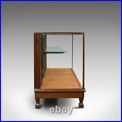 Large Antique Shop Display Cabinet, English, Oak, Showcase, Edwardian, C. 1910