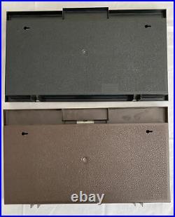 Lot of 2 1981 Hot Wheels Showcase Display Case 1 Brown & 1 Black No Cars
