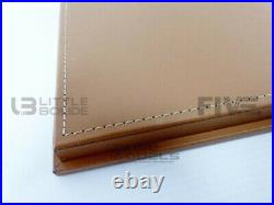 Luxcase 1/12 Display Case Show-case 1/12th Brown Leather Lc12001c