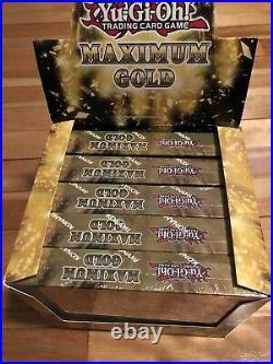 Maximum Gold Box Display of 5 Boxes 1st Edition Sealed Yu-Gi-Oh