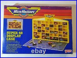 Micro machines super 48 display case Galoob made in USA Showcase vitrina