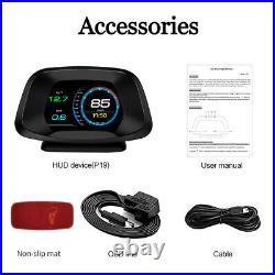 New HUD Head Up Display Projector Car OBD2 GPS Dual Mode Speedometer Plug&Play