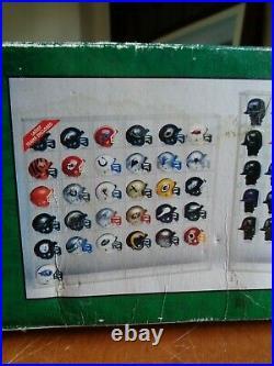 New RIDDELL NFL COLOR CHROME POCKET PROS DISPLAY SHOWCASE 31 TEAM HELMETS