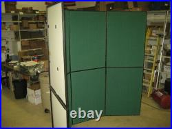 Nomadic Trade Show Green Back Wall Display Assembled Approx 110 X 80 & Case