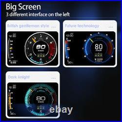 OBD2+GPS Car Head Up Display HUD Gauge Turbo Water & Oil Temp Speedometer Alarm