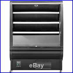 Open Air Refrigerated Display Case Intelligent Cooling Showcase 360L Black