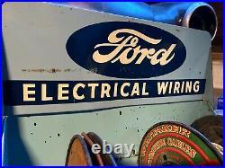 Original Ford Genuine Electrical Wiring Rack Display Vintage V8 Showcase Sign