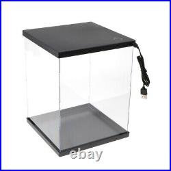 Pack of 2 Display Stand Showcase with LED Light Storage for MG BB Gundam Model