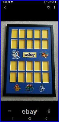 Pokemon 20 Card Display Frame. Showcase Your Favorite Cards. Psa/bgs/one Touch