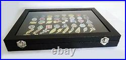 Pokemon Kanto Gym Badges with Glass Lid Display Showcase Pin Badges Set of 50