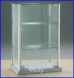 RETAIL DISPLAY. TABLE TOP JEWELLERY, DISPLAY CABINET SHOWCASE LOCK 40w cm