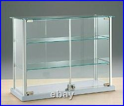 RETAIL DISPLAY. TABLE TOP JEWELLERY, DISPLAY CABINET SHOWCASE LOCK 65w cm