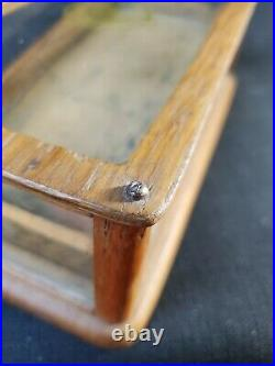 Rare Antique General Store King Collar Button Small Display Showcase