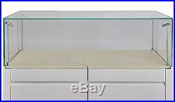 Retail Glass Display Cabinet Counter Glass Showcase Jewelry Display Case W Led
