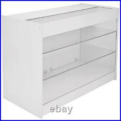 Shop Counter Retail Shelves Storage Display Cabinet Showcase Glass Capricorn