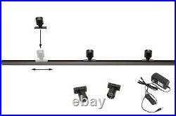 Showcase 5 LED Mini Spotlight with track + UL Power Supply for tradeshow display