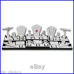 Showcase Jewelry Display Stand Grey Display Set for Jewelry Store Displays 35-Pc