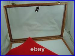 Showcase display box OAK wood secure display foam lining 18 X 24 X 2 inch new