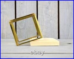 Small Glass and Brass Display Showcase Box Dome with Wooden Base