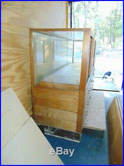 Solid Wood And Glass Display Showcase
