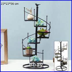 Spiral Flower Showcase Plant Stand Display Holder Indoor Outdoor Patio Garden