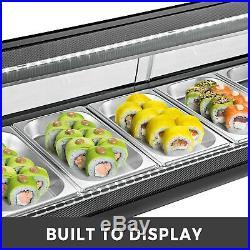 Sushi Bar Showcase Countertop Sushi Cooler Display Commercial Refrigerators 42L