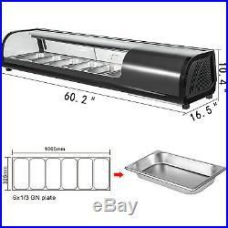 Sushi Bar Showcase Countertop Sushi Cooler Display Commercial Refrigerators 62L