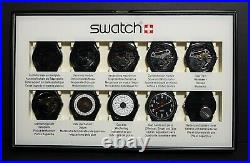 Swatch 10 Step Production Show Case BLACK DISPLAY CLUBPACK2