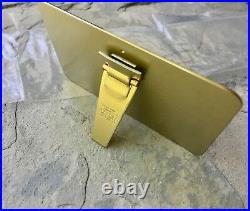Swiss Made brass vintage Baume & Mercier watch dealers showcase display sign NOS