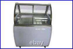 Top Grade 220V 48Freezer Ice Cream Display Case LED Lighting Showcase IceSucker